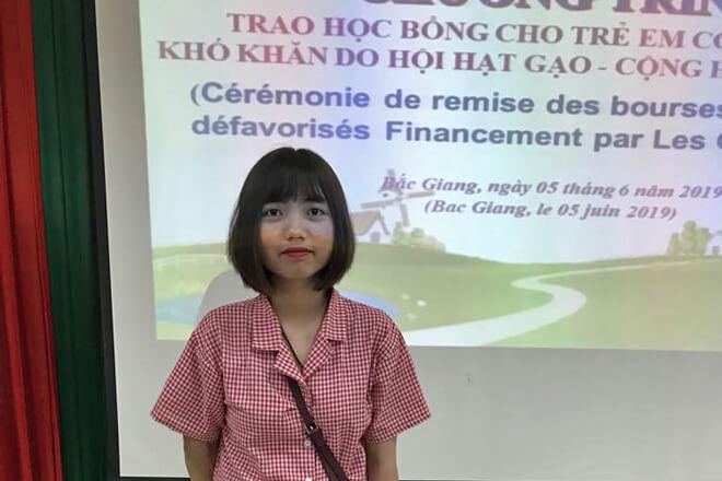 Nguyen Thi Huong Lien, filleule de M. et Mme Pasquier